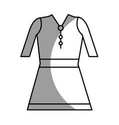 Silhouette beautiful short dress casual cloth vector