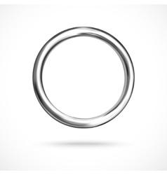 Silver ring copyspace torus round eps10 vector image