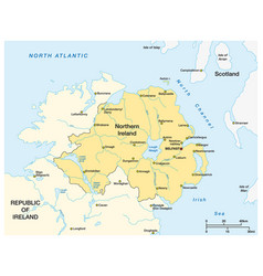 Simple map northern ireland vector