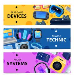 Smart technics banners set vector