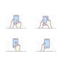 Smartphone gesture icon vector