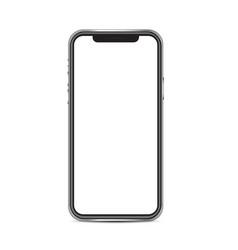 smartphone mockup isolated on white background vector image
