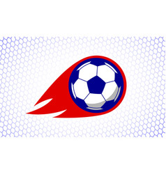soccer football sport game fire ball design on vector image