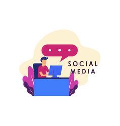 Social media concept for web template design vector