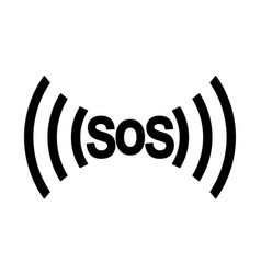 sos icon international distress signal vector image