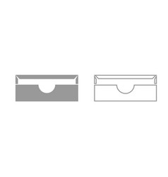 stationary paper tray grey set icon vector image vector image
