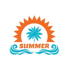 summer vacation - palm sun vector image