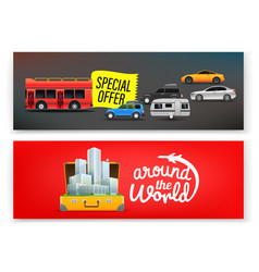 Travel banners template advertising banners vector