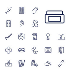 Treatment icons vector