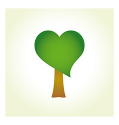 Tree with heart-shaped foliage vector image
