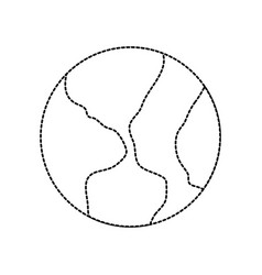 uncolored earth vector image vector image