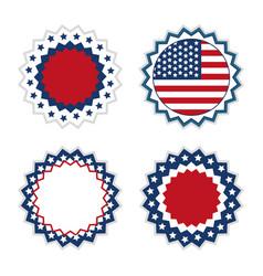 usa award emblems vector image