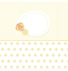 Vintage baby girl arrival announcement card vector