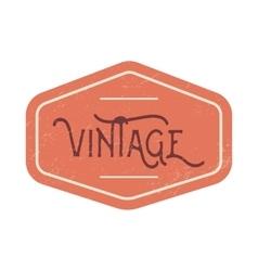Vintage red label vector image