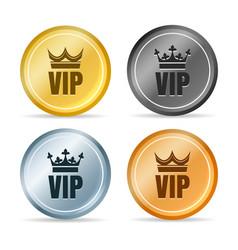 Vip member emblems vector