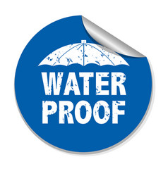 Water proof sticker vector