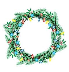 wreath green vector image