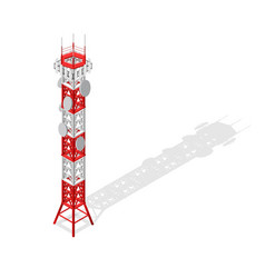 communications tower mobile phone base or radio vector image