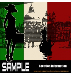 Italian travel flyer vector image vector image