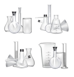 piles of chemical laboratory glass tubes vector image