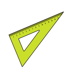 simple hand drawn plastic angle ruler office vector image vector image