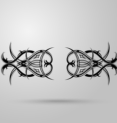 Tribal tattoo on a gray background with shadow vector image vector image
