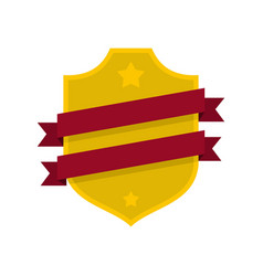 badge business icon flat style vector image vector image