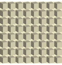 Geometric abstract background of cubes vector image