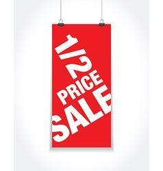 half price sale sign vector image vector image