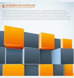 modern business 3d background vector image vector image