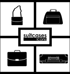 Suitcase design vector image vector image