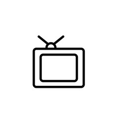 thin line old tv icon vector image