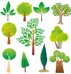 Tree samples vector image vector image