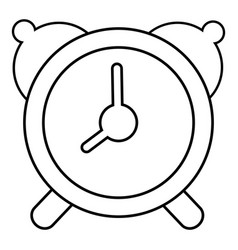 alarm clock icon outline line style vector image vector image
