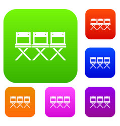 chairs set collection vector image vector image