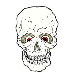 comic cartoon spooky skull vector image