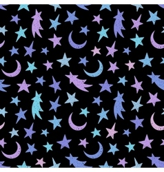 Cosmic seamless grunge pattern vector image vector image