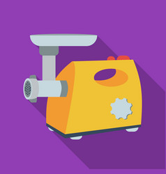 Electical meat grinder icon in flate style vector