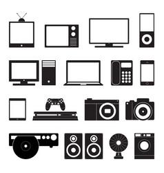 electronic technology icon set vector image