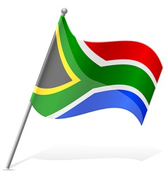 Flag south african republic vector
