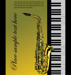 piano with saxophone vector image vector image