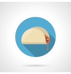 Tacos lunch flat color design icon vector image vector image