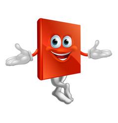 book mascot man vector image vector image