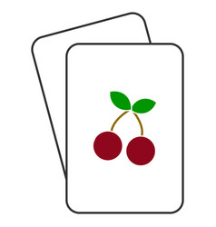 cherry playing cards vector image