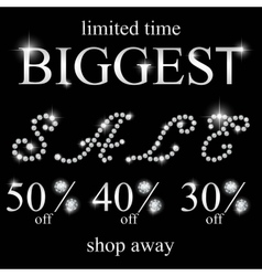 Diamond sale Black Friday sale vector image