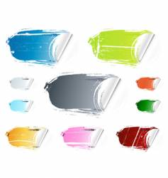 grunge peeling retail stickers vector image vector image