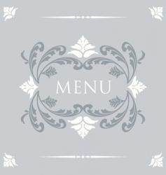 menu vector image