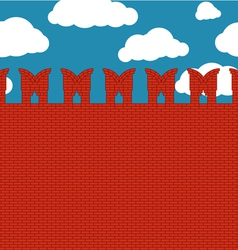 Red brick wall vector image vector image