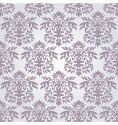 silver damask wallpaper vector image