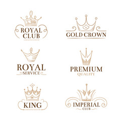 vintage princess labels and logos with vector image vector image